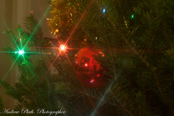 I love to play with my camera around a Christmas Tree.
