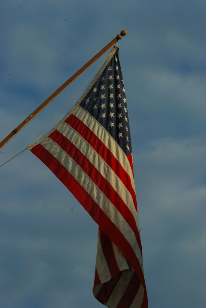 I always wanted to do a shot of the American Flag against the sky.