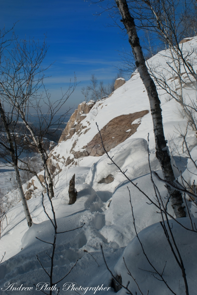 The Quarry In Winter